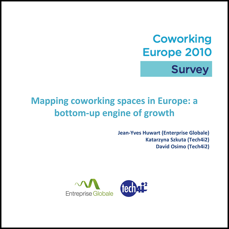 Survey on coworking in Europe in 2010