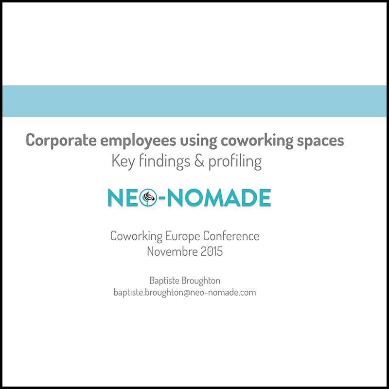 Corporate employee profiles who benefit the most from coworking environments (2015)