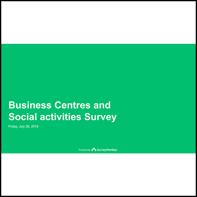 Business Centres and Social activities Survey – First results (2018)