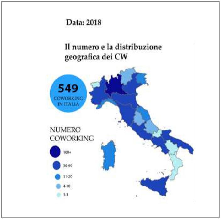 Urbant@IT – La localizzazione degli spazi di coworking in Italia (2018)