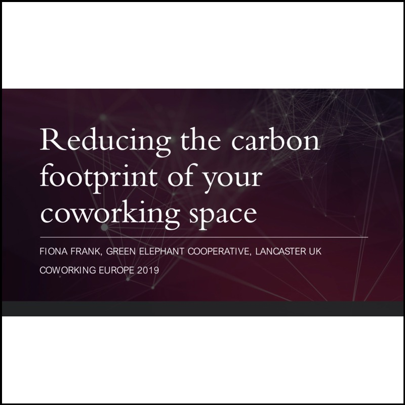 Reducing the carbon footprint of your coworking space