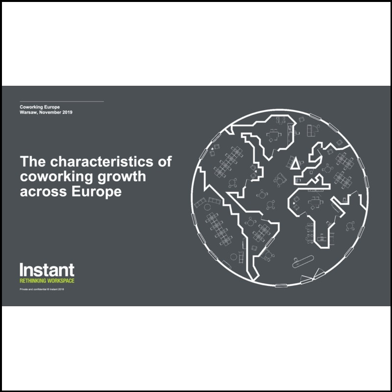 The characteristics of the coworking growth across Europe